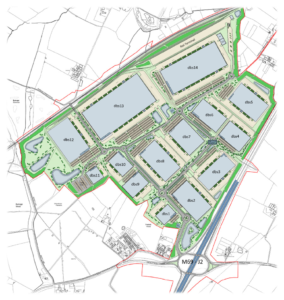 Proposed warehousing near Burbage Common