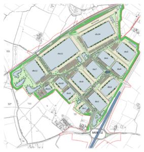 Proposed warehousing near Burbage Common